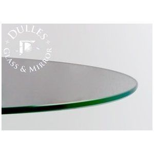 48u0027u0027 Round 1/4 Inch Thick Flat Polised Tempered Glass Table Top By