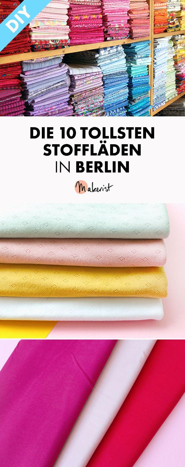 Die 10 tollsten Stoffläden in Berlin via Makerist Magazin #makerist #nähenmitmakerist #makeristdiy #nähen #stoffla