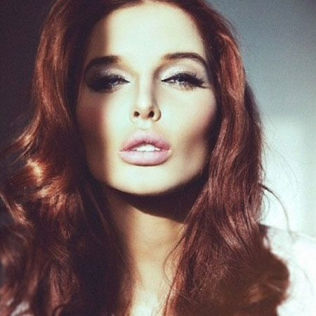 Cool and Charming Long Cherry Red Colored Hair