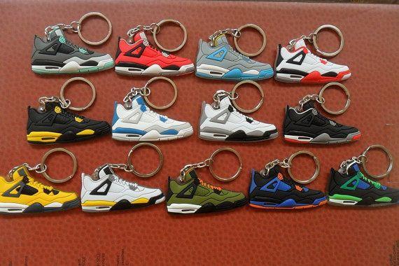 Michael AIR JORDAN 4 AJ4 13 pc Set Basketball Sneaker Shoe Keychain Ring Nike Party Favor- Complete Set- fast shipping