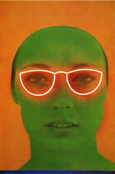 juju-be-art: Martial Raysse, La France verte, 1964, Photo et néon, 153 x 102 cm