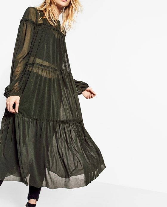 Image 2 of DRESS WITH TULLE FRILLS from Zara 39.90