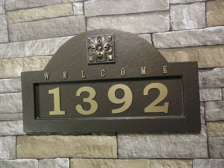 Tuscan ADDRESS PLAQUE Mediterranian House Numbers Large