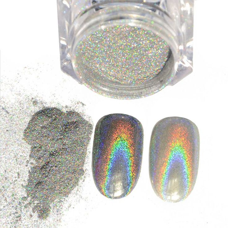 1g/Box Shiny Laser Nail Powder Holographic Nail Glitter Dust Rainbow Chrome Pigment Manicure Pigments Nail Art Decorations