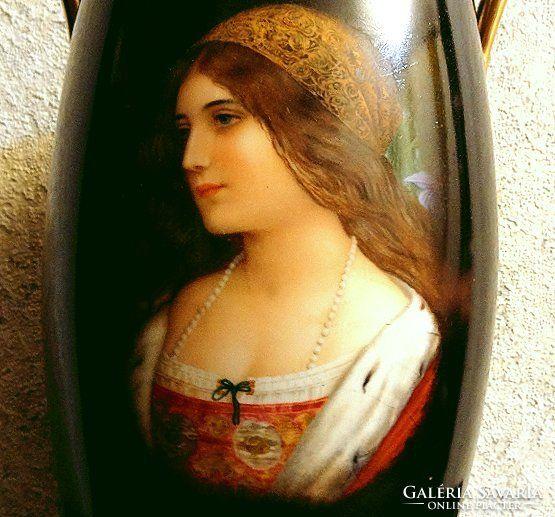 Antik Bécsi Porcelán váza (nagyméretű)
