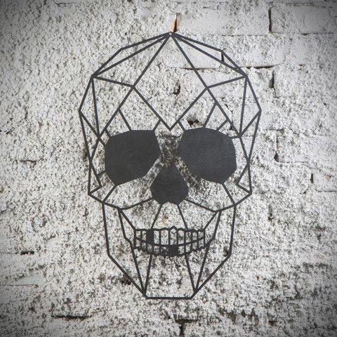 Metal Plaka - Skull ev dekorasyonu,dekorasyon fikirleri,duvar dekorasyonu,iç dekorasyon,ofis dekorasyonu,metal dekoratif ürün,geometrik tasarım,kuru kafa,hediye,hediye fikirleri www.hoagard.com