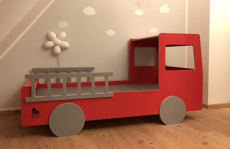 Kinderbetten - Kinderbett Feuerwehr - ein Designerstück von HOLZBANDE bei DaWanda
