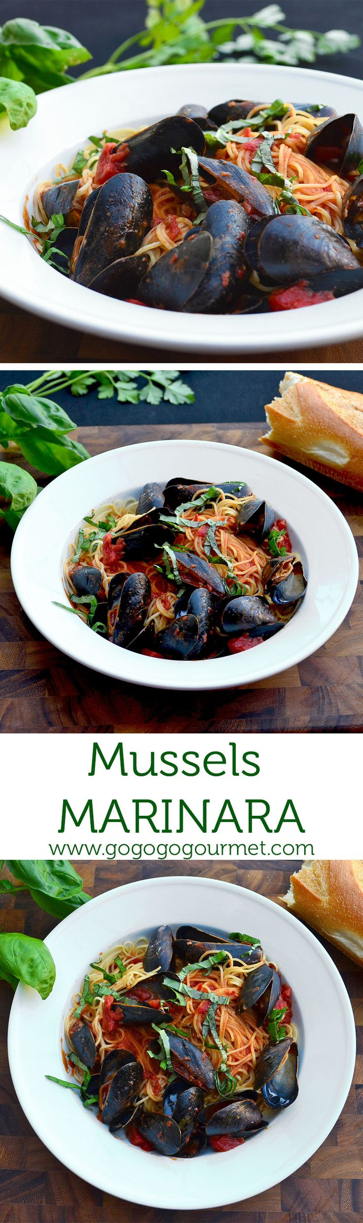 Mussels Marinara comes together in the time it takes to boil water, making it the perfect weeknight meal! | Go Go Go Gourmet @gogogogourmet