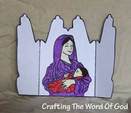 Hannah's prayer- unfolded view- when folded you see praying hands! Love this craft!
