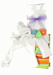 100 best baby gifts images on pinterest baby gift baskets stork ivory luxury personalized baby gift basket 12495 negle Images