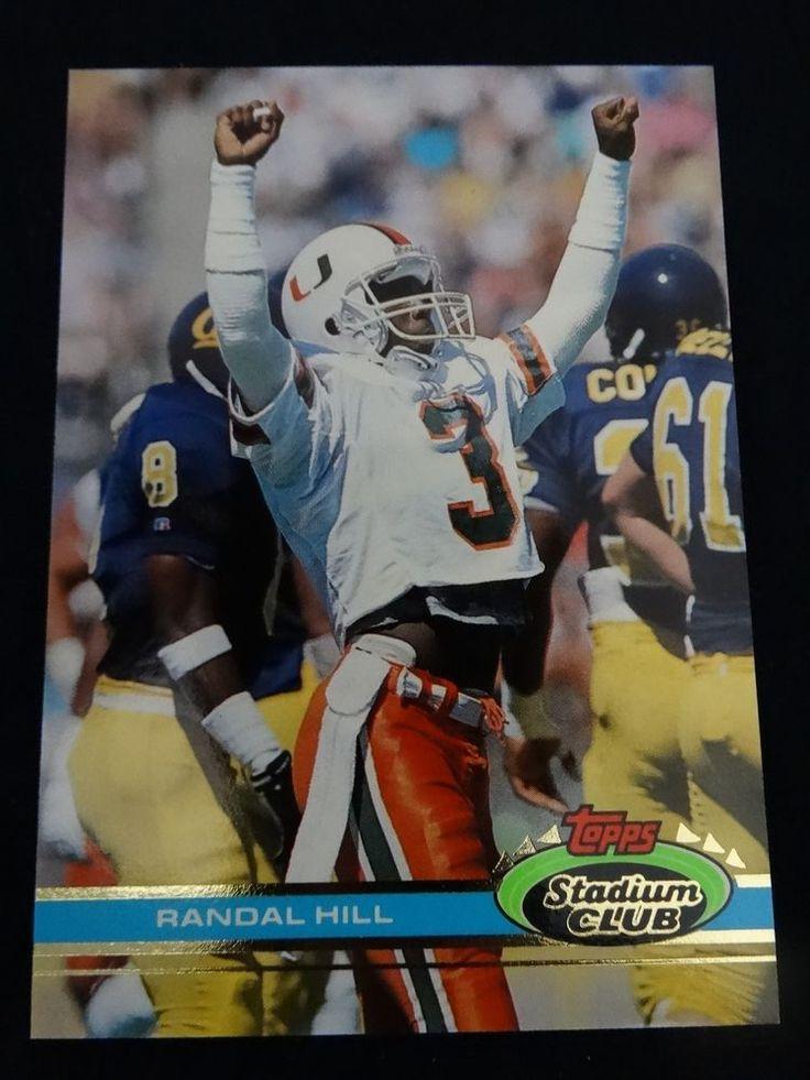1991 Topps Stadium Club #173 Randal Hill Miami Dolphins Rookie Card #MiamiDolphins
