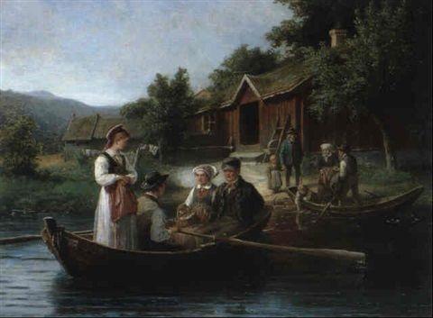 EN SONDAGSMORGON VID RONNEBYAN by Bengt Nordenberg. Blekinge.