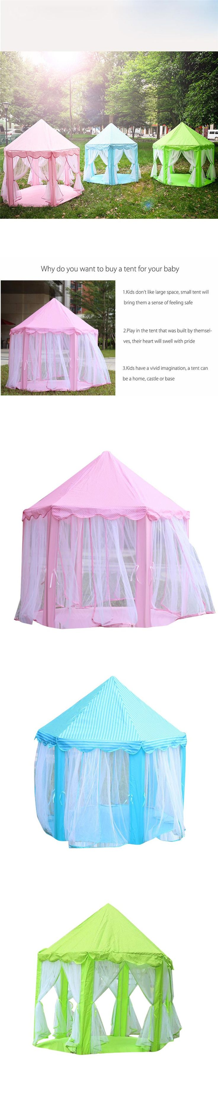 Ouneed mosquito net Game Tents Princess Castle Children's Tent Game House For Kids Funny Portable Tent*30 GIFT Drop shipping