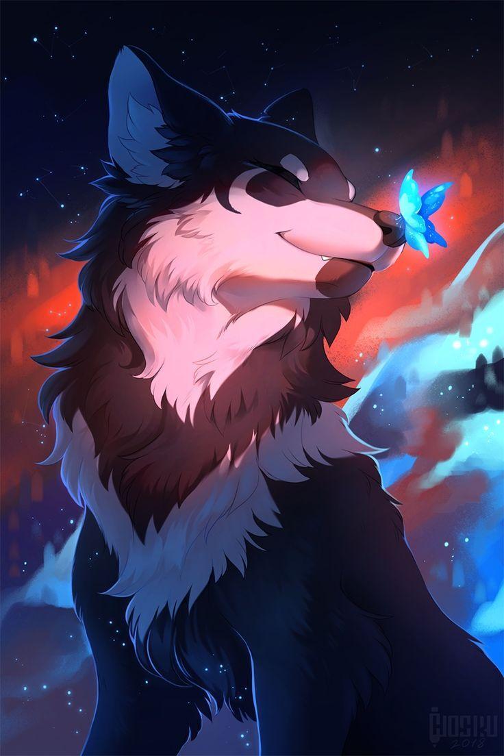 Красивые картинки с волками аниме
