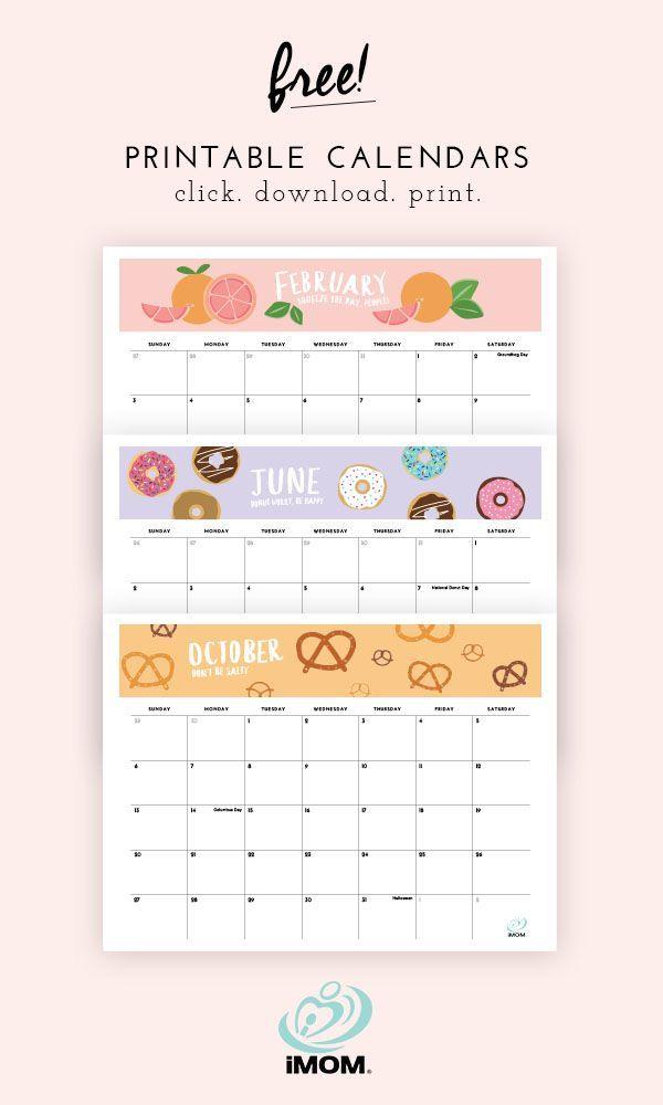 2020 And 2021 Foodie Printable Calendars For Moms Imom Diy Calendar Printable Planner Calendar Printables Calendar Printables