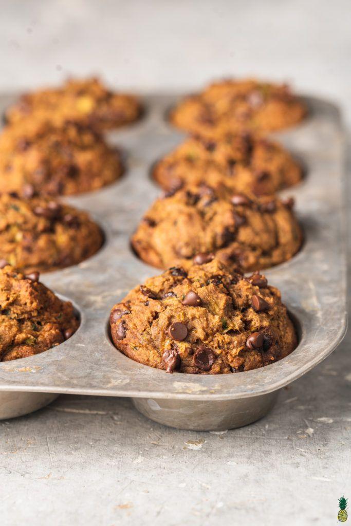 Chocolate Chip Zucchini Muffins Gluten Free Sweet Simple Vegan Recipe In 2020 Zucchini Chocolate Chip Muffins Sugar Free Snacks Gluten Free Sweet