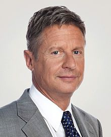 wikipedia article on Gary Johnson, the 2012 Libertarian Party presidential candidate and former Governor of New Mexico.
