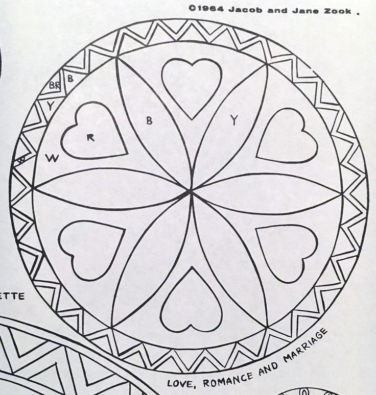 Legendary Pennsylvania Dutch Hex Sign Patterns Zook 1964