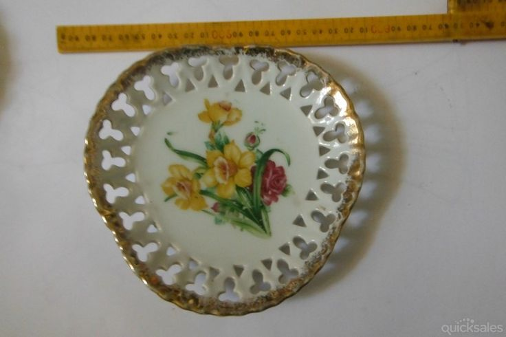 Japanese Fine bone chine lace work plater by jones101 - $16.00