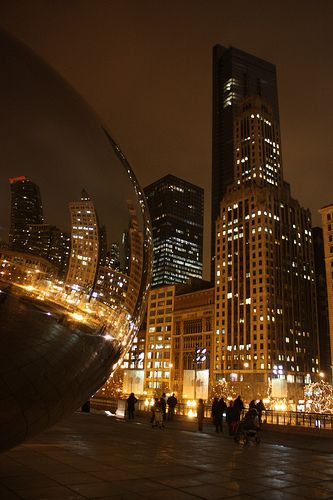 Chicago, Millennium Park at night  posted December 16th, 2009 by Everywhereist (Travel Blog)