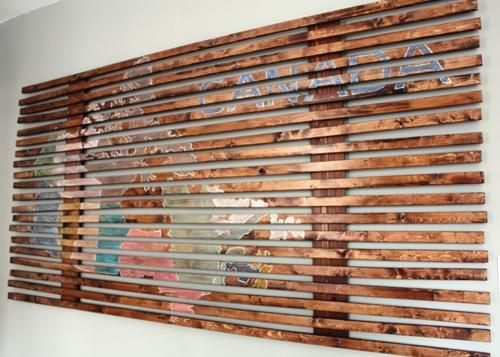 DIY slatted wood map art DIY Wall Art DIY Crafts