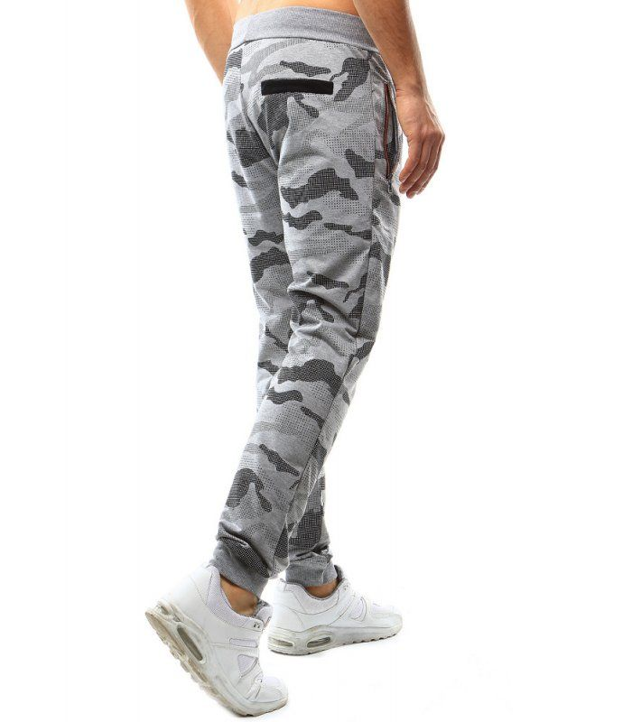 Pánske maskáčové šedé nohavice