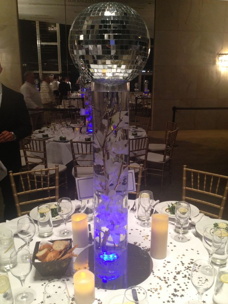 Mirror Centerpieces And Mirror Ball On Pinterest