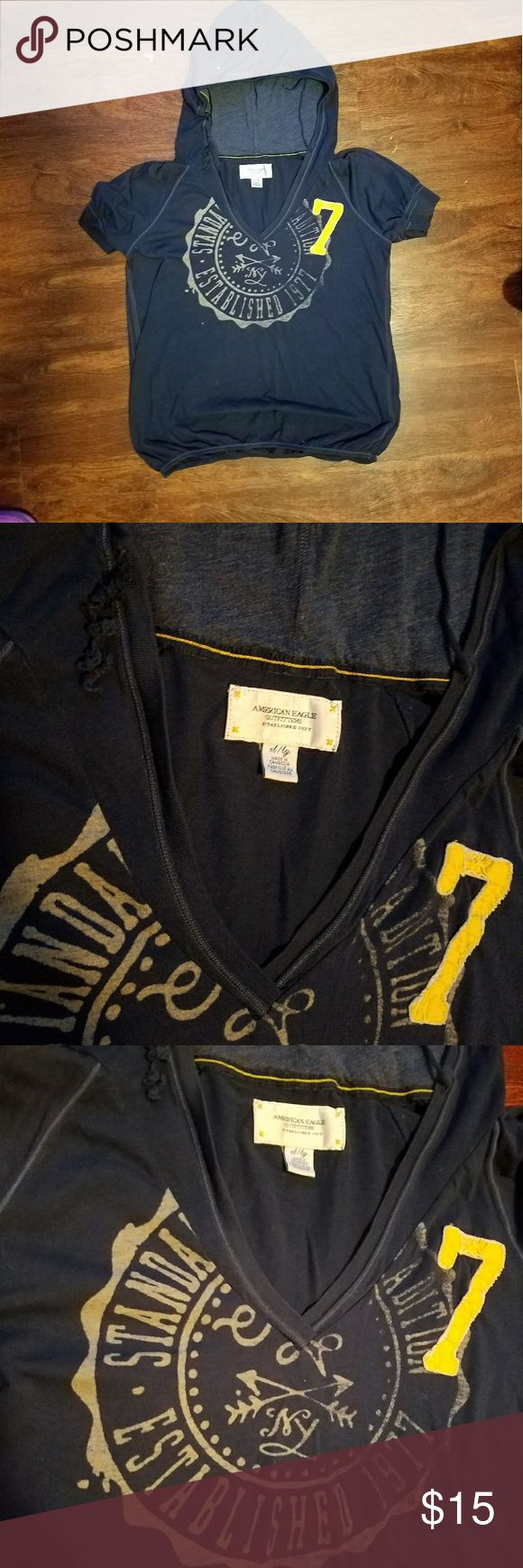 AE American Eagle hoodie tshirt XL womens Stay cute and stylish this summer with this Women's xl American eagle shirt.  Discounts on bundles  Feel free to make a reasonable offer American Eagle Outfitters Tops Tees - Short Sleeve