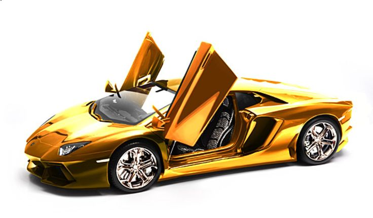 Happy Friday! What will YOU be taking for a spin this weekend? Gold-Plated Lamborghini Model Car: