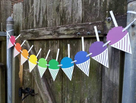 Snowball Stand Sign Snow Cone Banner by SpareRoomStationery