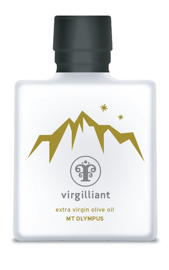 "Virgilliant Mt Olympus Greek Extra Virgin Olive Oil!The famous Mount Olympus is as unique as its myths indigate. It is a  place  where cultivation of Extra Virgin Olive Oil is rare. However, this limited production leads to Extra Virgin Olive Oil with exquisite characteristics, flavor and aromas.  Virgilliant Extra Virgin Olive Oil from Mt Olympus is ""Pure as nature demands""!"