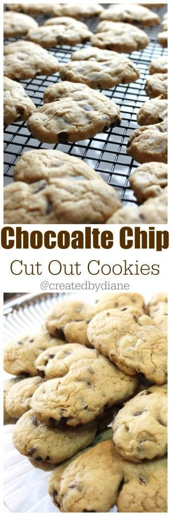 Chocolate Chip Cut Out Cookies @createdbydiane