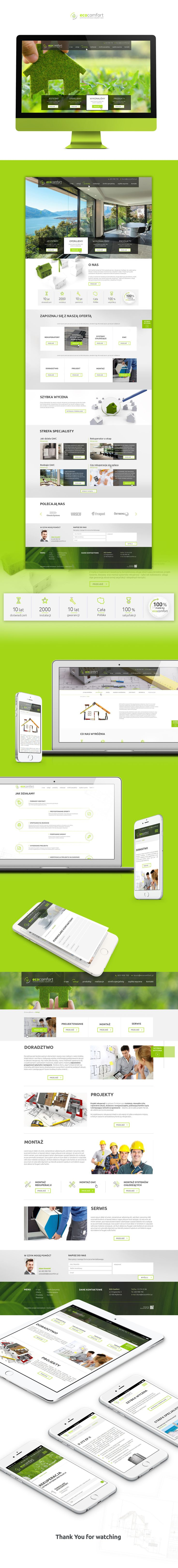 Behance :: Editing EcoComfort - website