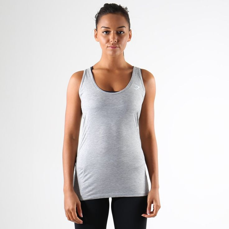 Gymshark Tempo Vest II - Light Grey Marl at Gymshark UK | Be a visionary.