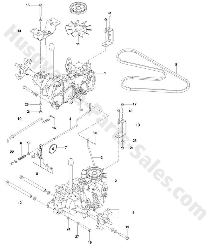 rz5424 husqvarna ztr mowers hydraulic pump