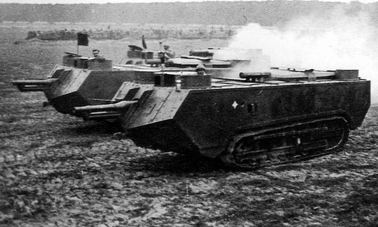 St Chamond tanks of the French army