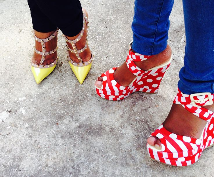 Valentino's or polka dot wedge....decisions, decisions!