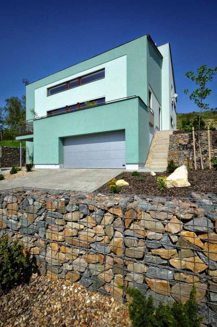 27 best fence ideas images on pinterest walls gabion wall and stone garden walls garden fence with natural stone baanklon Choice Image