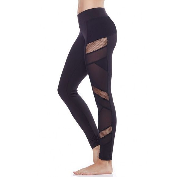 "⚡️SALE TODAY⚡️Sexy mesh panel leggings Smooth, stretchy fabric for comfort and ease of movement. Gusset. Approx. 2.5"" waistband. Hidden waistband pocket. Mesh panels down the side of each leg. 80% Polyester, 14% Spandex, 6% Nylon. Similar to Lululemon just breathe leggings. **other sizes available Electric Yoga Pants Leggings"