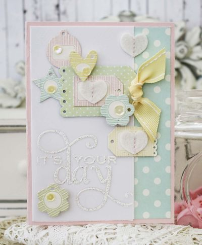 Tiny Tags Revisited - It's Your Day Card by Melissa Phillips for Papertrey Ink (April 2014)