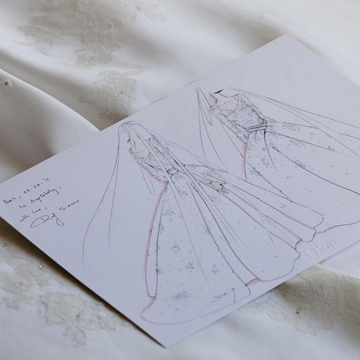 This Stunning Dior Wedding Dress Took 5 Months to Make via @WhoWhatWear