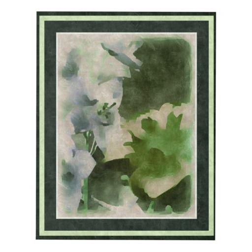 "Canvas Panel ""Watercolor Floral Scene"""