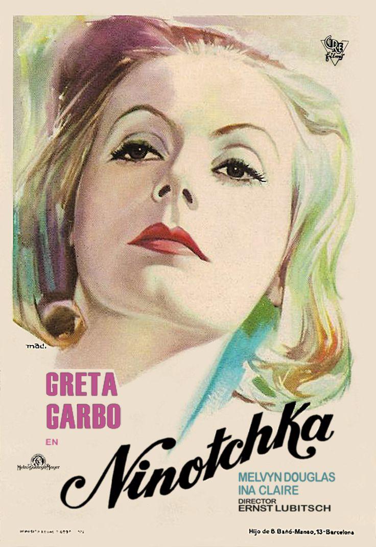 """""""Ninotchka"""" d'Ernst Lubitsch, programmé le 06/08 à 21h30  http://www.forumdesimages.fr/les-films/les-programmes/cinema-au-clair-de-lune-2015/ninotchka_1"""