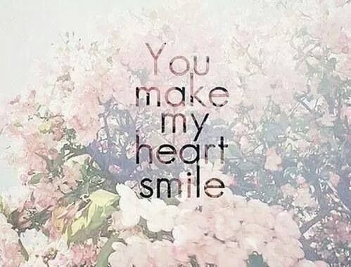 You make my heart :)