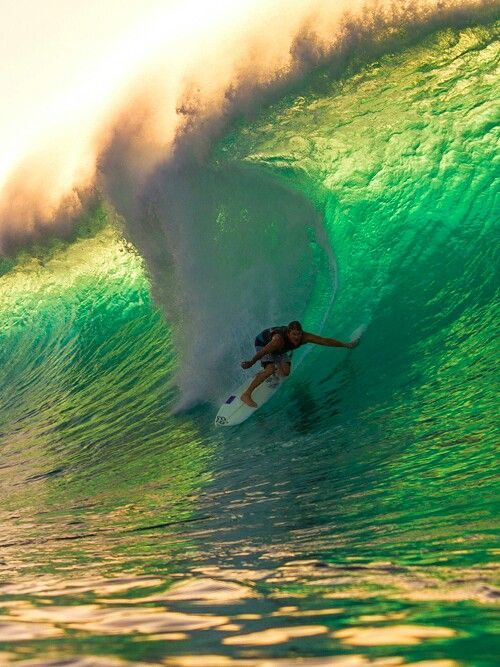 Faire du surf