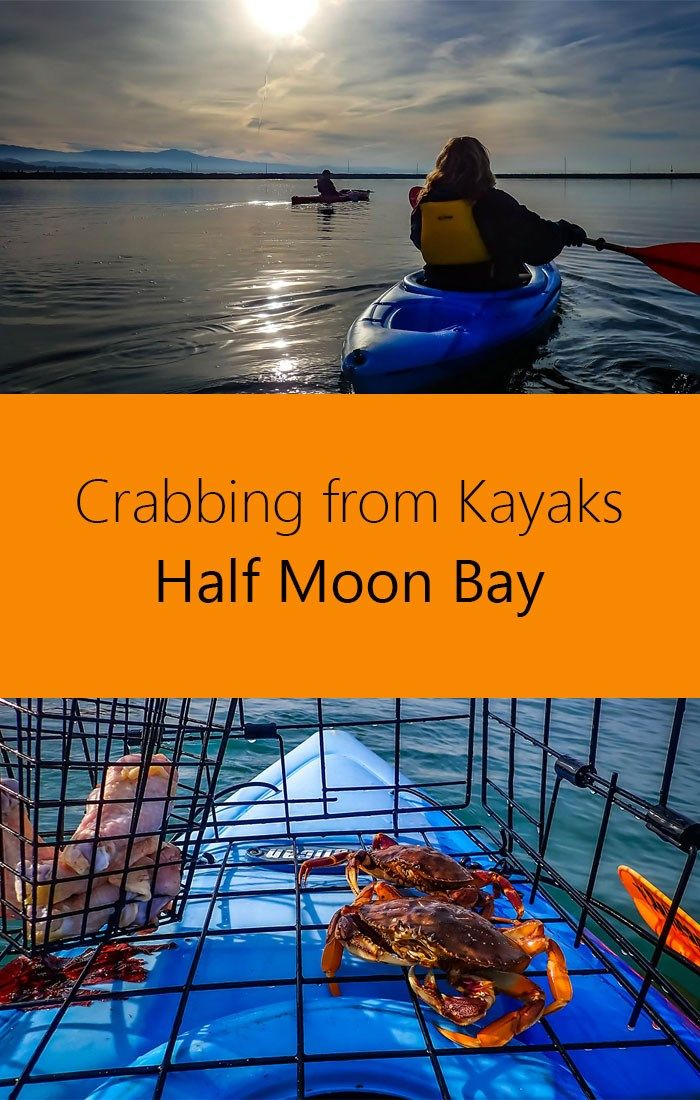Crabbing from Kayaks in Half Moon Bay California for dungeness crab.