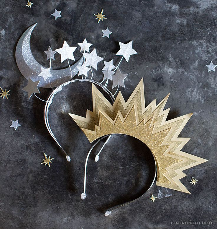 diy sun  moon headbands  halloween costum kostuem