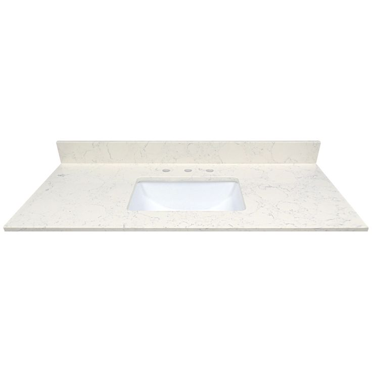 $780 US Marble Arctic Carrara Quartz Undermount Single Sink Bathroom Vanity  Top (Common: 49