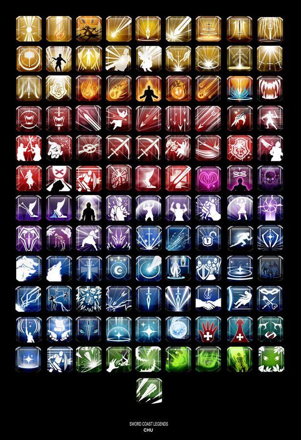 ArtStation - Sword Coast Legends: Ability Icons, Janice Chu