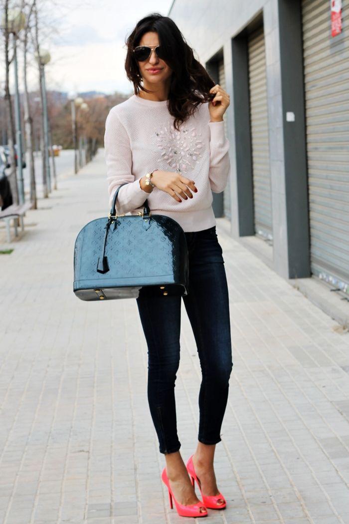 Total Look Zara / Calzado Christian Louboutin / Bolso Louis Vuitton / Gafas Dolce & Gabbana / Pulsera Lueli